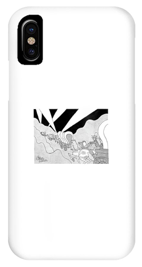 Caption Contest IPhone X Case featuring the drawing New Yorker April 7th, 2008 by Gahan Wilson