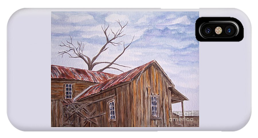 Old House IPhone X Case featuring the painting 1800's by Regan J Smith