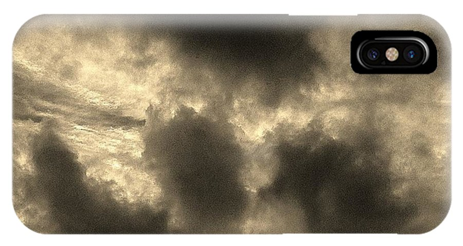 Sky IPhone X Case featuring the photograph 18212013010 by Debbie L Foreman