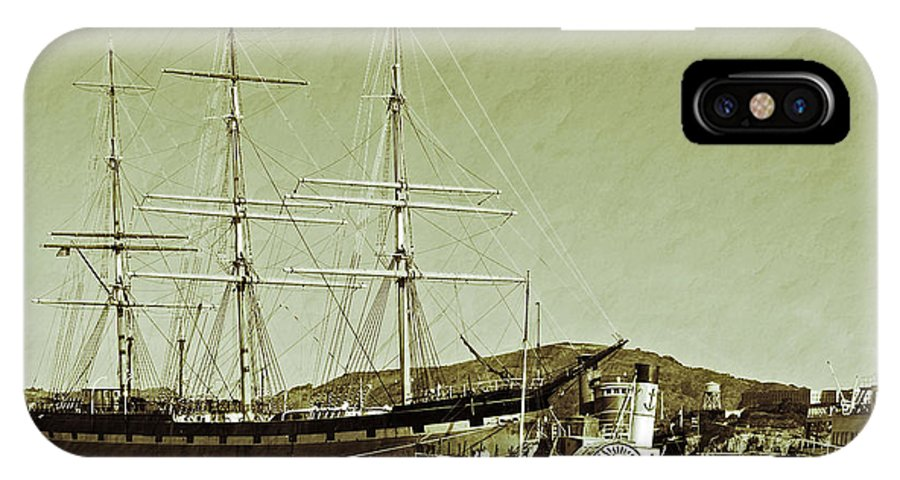 Francisco IPhone X Case featuring the photograph 1886 Balclutha by Holly Blunkall