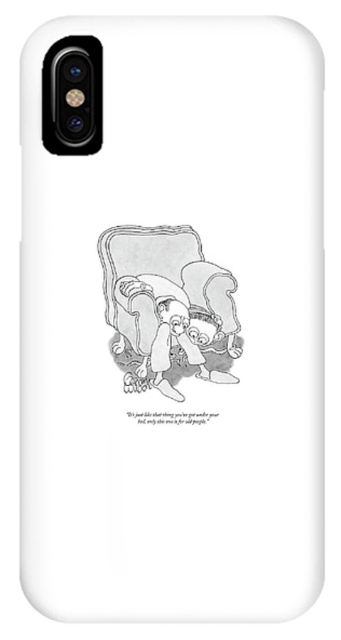 Monsters IPhone X Case featuring the drawing It's Just Like That Thing You've Got by Gahan Wilson