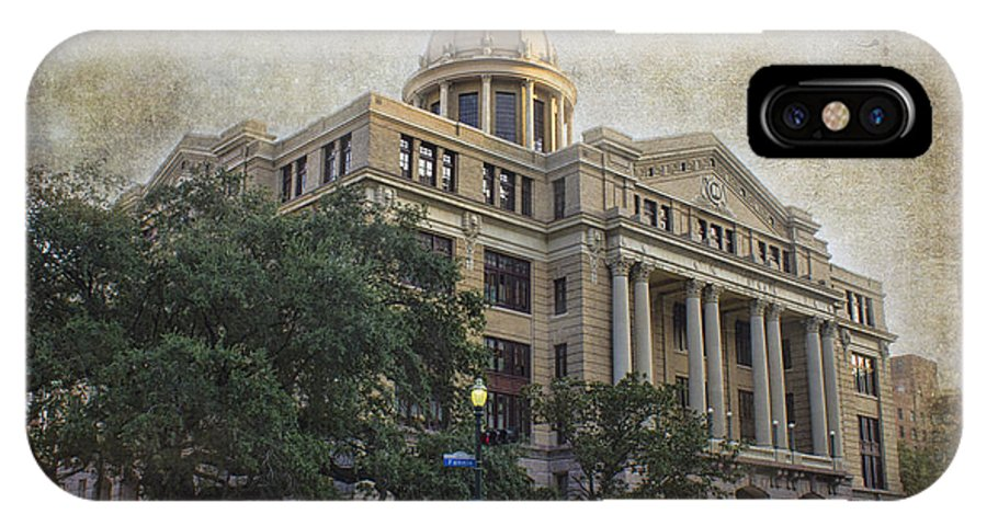 Building IPhone X Case featuring the photograph 1910 Harris County Courthouse by TN Fairey