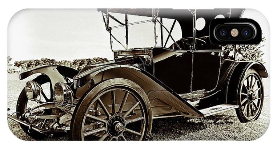 1913 IPhone X Case featuring the photograph 1913 Argo Electric Model B Roadster Coffee by Marcia Colelli