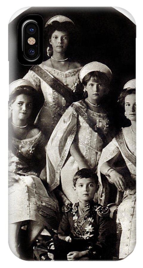 Historicimage IPhone X Case featuring the photograph 1914 The Romanov Children by Historic Image