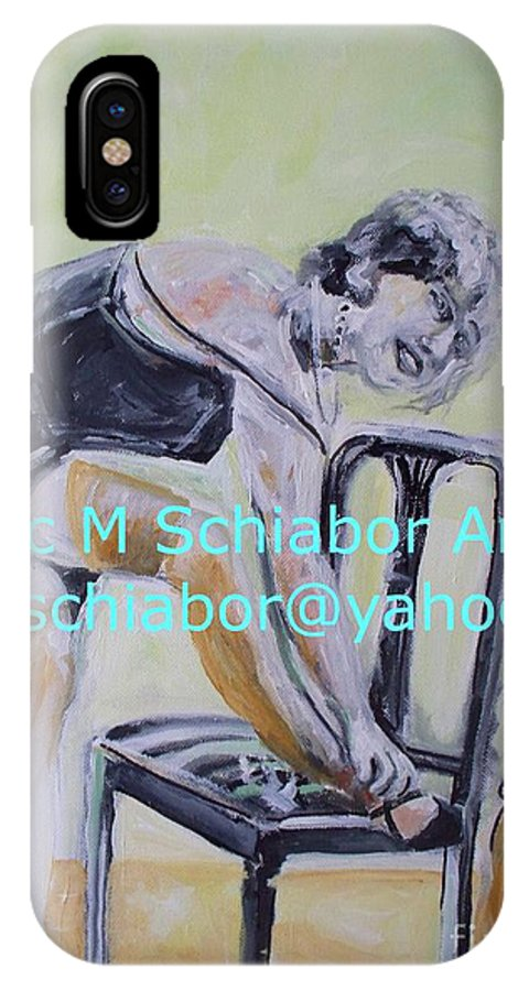 1920 IPhone X Case featuring the painting 1920s Girl by Eric Schiabor
