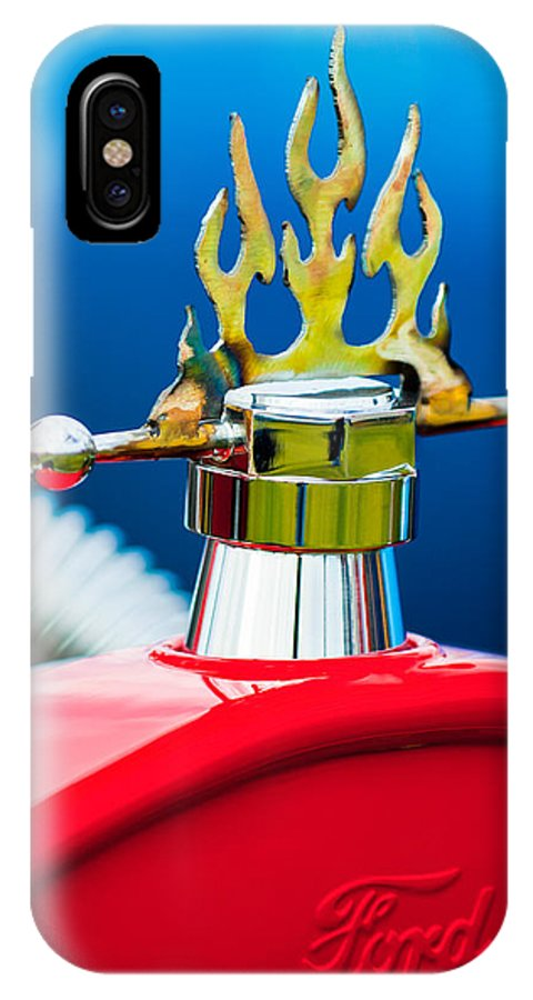 1923 Ford T-bucket IPhone X Case featuring the photograph 1923 Ford T-Bucket Aftermarket Hood Ornament by Jill Reger