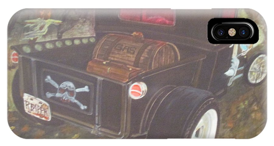 1930 Ford Pick Up Truck IPhone X Case featuring the painting 1930 Ford Pick Up Truck/reaper by Russell Boothe