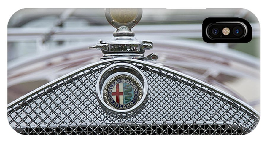Glenmoor IPhone X Case featuring the photograph 1931 Alfa Romeo by Jack R Perry