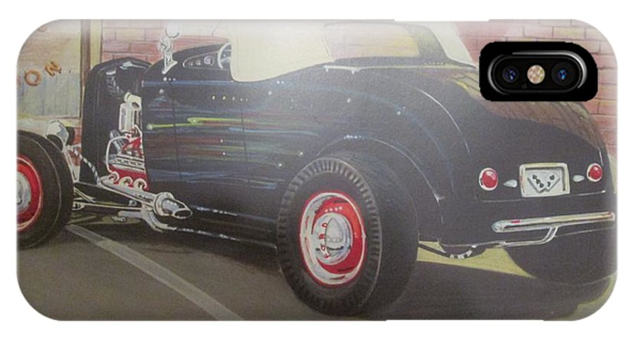 1932 Ford At Deuce's Saloon IPhone X Case featuring the painting 1932 Ford Roaster At Deuce's Saloon by Russell Boothe