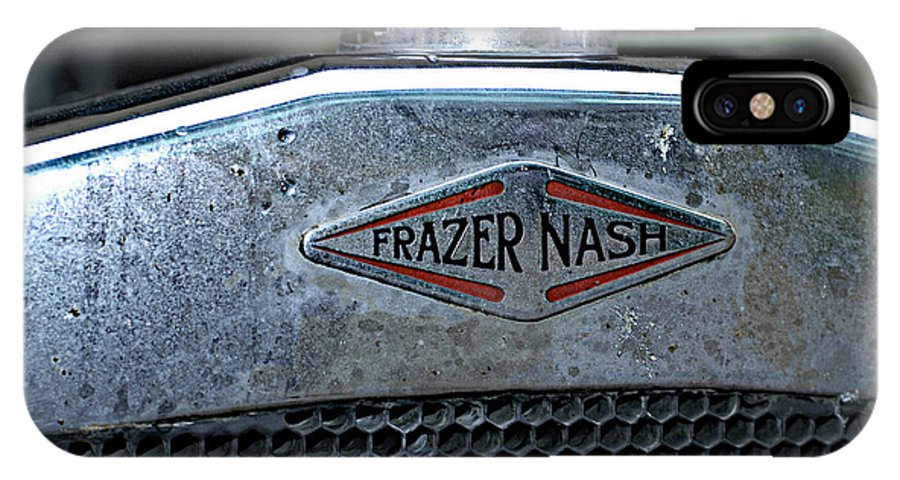 Frazer Nash IPhone X Case featuring the photograph 1932 Frazer Nash Tt Radiator Badge by John Colley