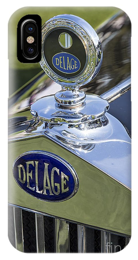 1933 Delage IPhone X Case featuring the photograph 1933 Delage by Dennis Hedberg