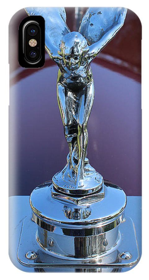 Auto IPhone X Case featuring the photograph 1933 Rolls Royce Phantom II Hood Ornament by Mark Steven Burhart