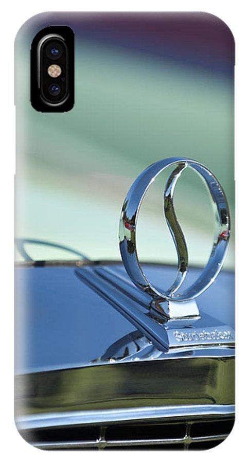 1934 Studebaker IPhone X / XS Case featuring the photograph 1934 Studebaker Hood Ornament by Jill Reger