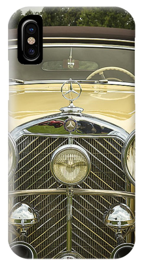 A IPhone X Case featuring the photograph 1936 Mercedes Benz by Jack R Perry