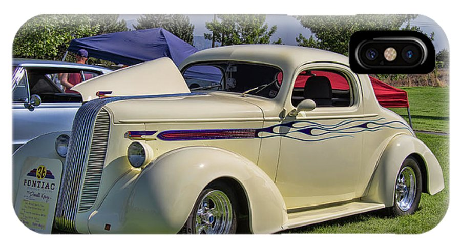 1936 IPhone X Case featuring the photograph 1936 Pontiac Hood Ornament by Nick Gray