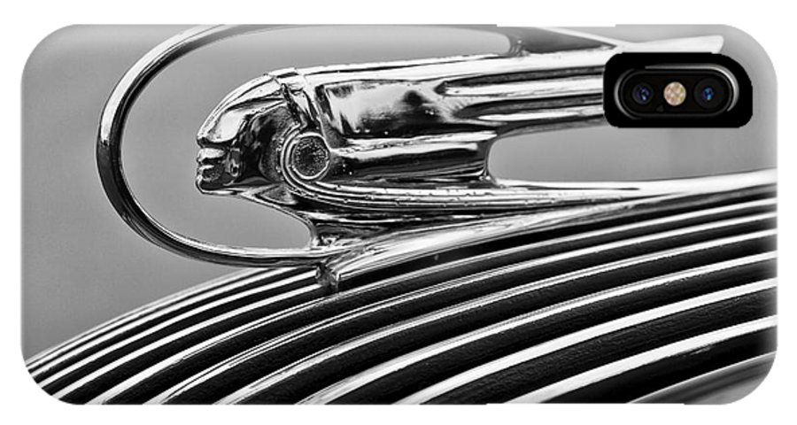 1936 Pontiac IPhone X Case featuring the photograph 1936 Pontiac Hood Ornament by Dennis Hedberg