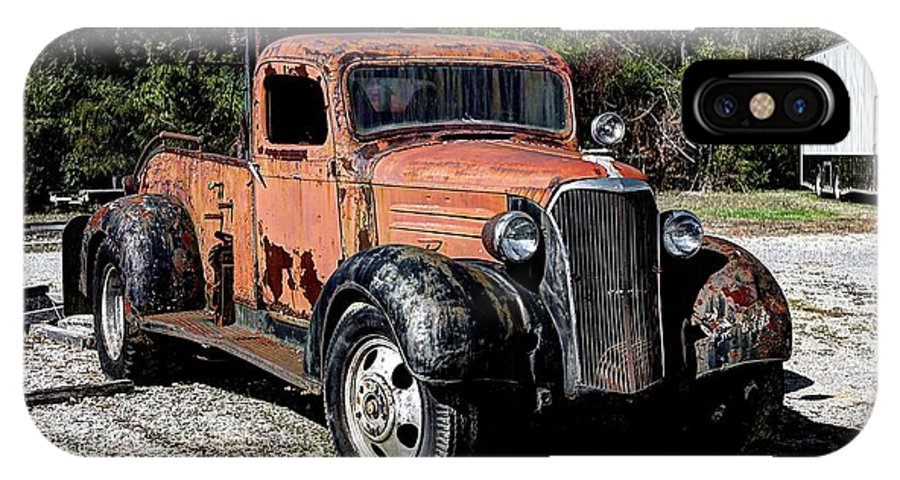 Hdr IPhone X Case featuring the photograph 1937 Chevy Wrecker by Paul Mashburn