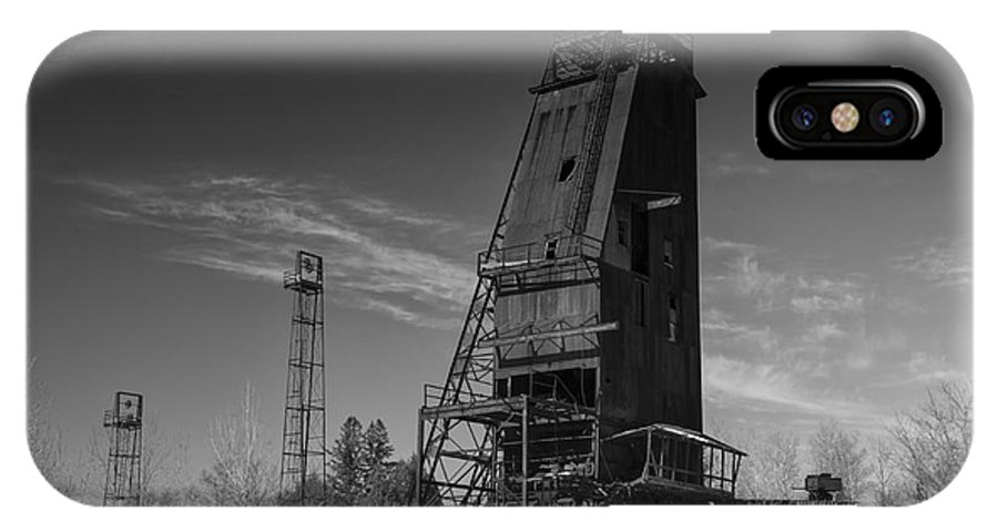 Caspian Mine IPhone X Case featuring the photograph 1937 by Dan Hefle