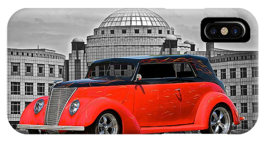 Coupe IPhone X Case featuring the photograph 1937 Ford Convertible Sedan by Dave Koontz