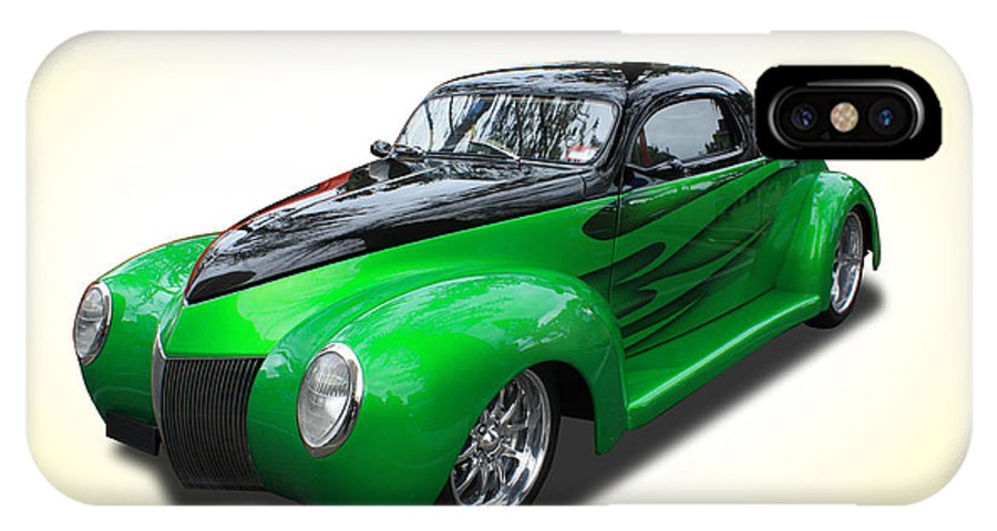 Car IPhone X Case featuring the photograph 1940 Street Rod by Keith Hawley