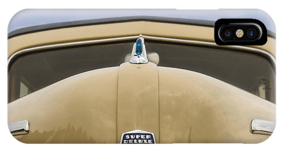 Antique IPhone X Case featuring the photograph 1947 Ford Super Deluxe Wagon by Jack R Perry