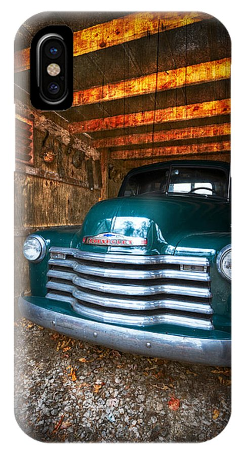 '50 IPhone X Case featuring the photograph 1950 Chevy Truck by Debra and Dave Vanderlaan