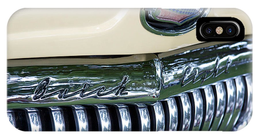 1952 Buick Eight Photographs IPhone X / XS Case featuring the photograph 1952 Buick Eight Grill by Brooke Roby
