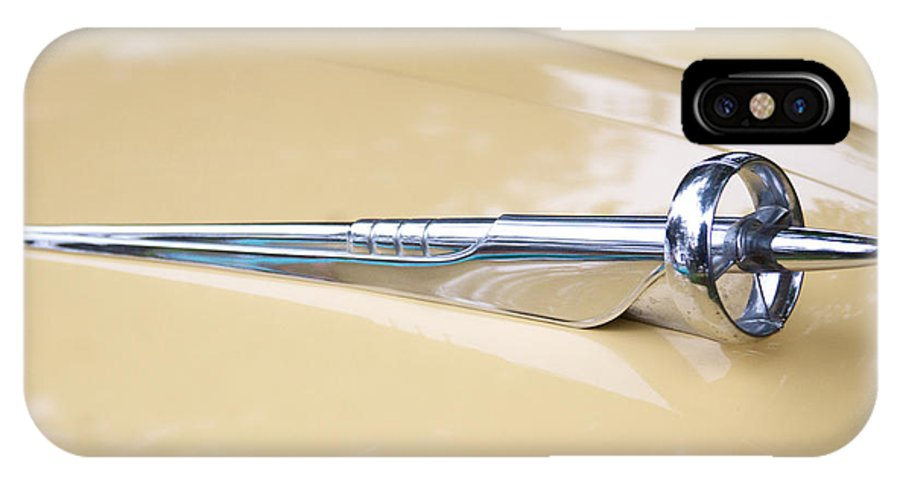 1952 Buick Eight Photographs IPhone X / XS Case featuring the photograph 1952 Buick Eight Hood Ornament by Brooke Roby