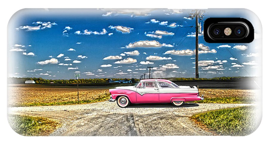 1955 Ford IPhone X Case featuring the photograph 1955 Ford Crown Victoria Crossroads In Life by Randall Branham