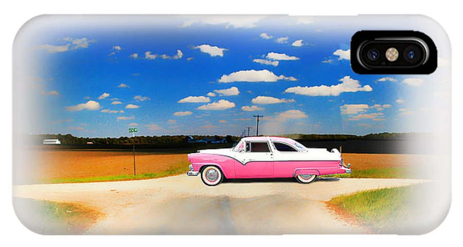 1955 Ford IPhone X Case featuring the photograph 1955 Ford Crown Victoria Sweet by Randall Branham