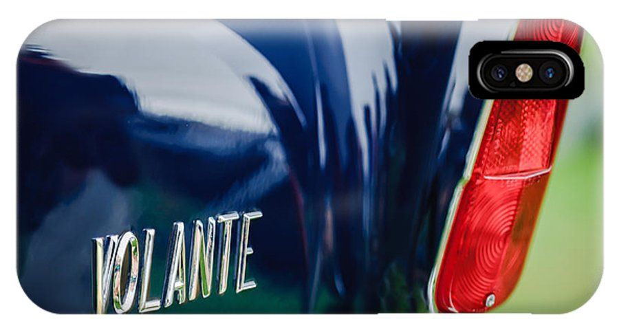 1956 Aston Martin Short Chassis Volante Taillight Emblem IPhone X Case featuring the photograph 1956 Aston Martin Short Chassis Volante Taillight Emblem by Jill Reger