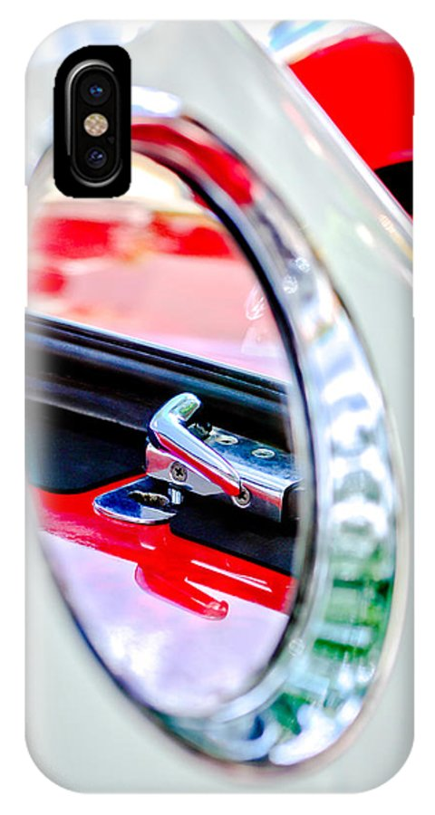 1956 Ford Thunderbird Latch IPhone X Case featuring the photograph 1956 Ford Thunderbird Latch -417c by Jill Reger