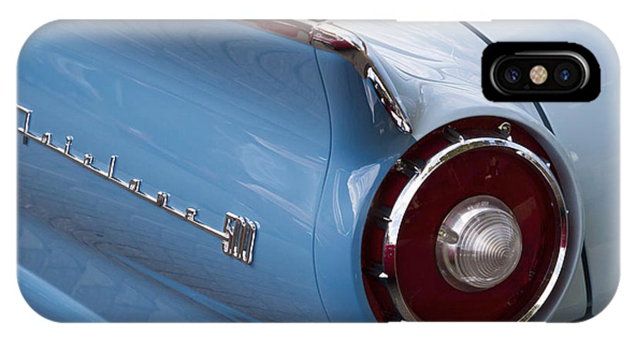 1957 Ford Fairlane IPhone X / XS Case featuring the photograph 1957 Fairlane 500 by Dennis Hedberg