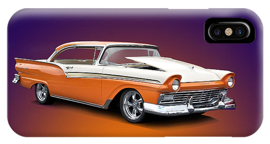 Auto IPhone X Case featuring the photograph 1957 Ford Fairlane 500 by Dave Koontz