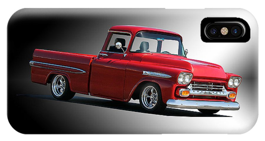 Auto IPhone X Case featuring the photograph 1958 Chevrolet Apache Pick Up Truck by Dave Koontz