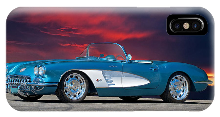Auto IPhone X Case featuring the photograph 1959 Corvette Fuel Injected by Dave Koontz
