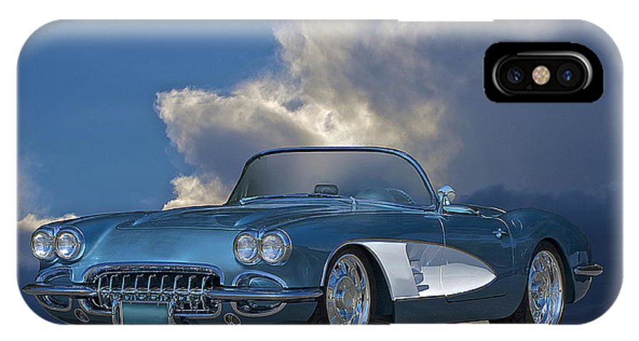Auto IPhone X Case featuring the photograph 1959 Corvette Roadster 1 by Dave Koontz