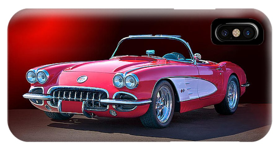 Auto IPhone X Case featuring the photograph 1959 Corvette Roadster 2 by Dave Koontz