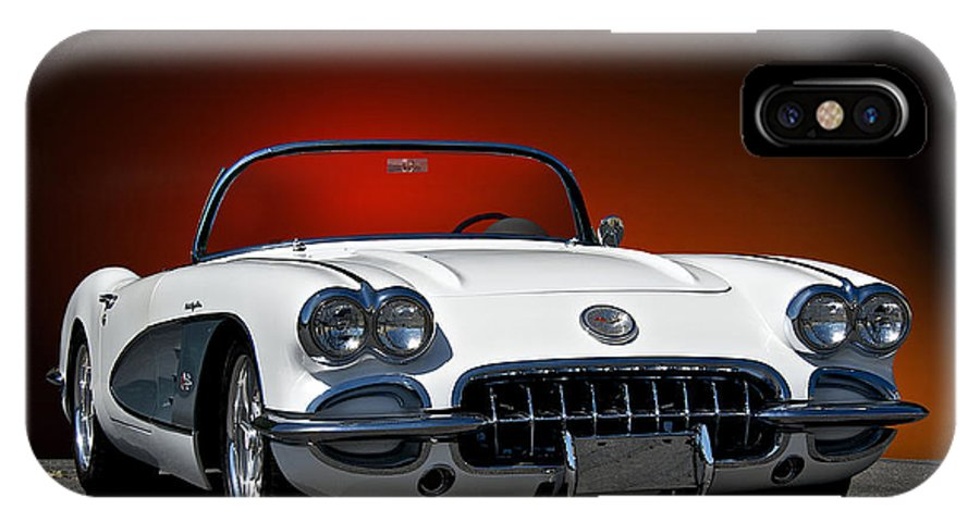 Auto IPhone X Case featuring the photograph 1959 Corvette Roadster I by Dave Koontz