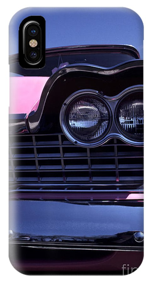 Plymouth IPhone X Case featuring the photograph 1959 Pink Plymouth Fury with Balloon by Anna Lisa Yoder