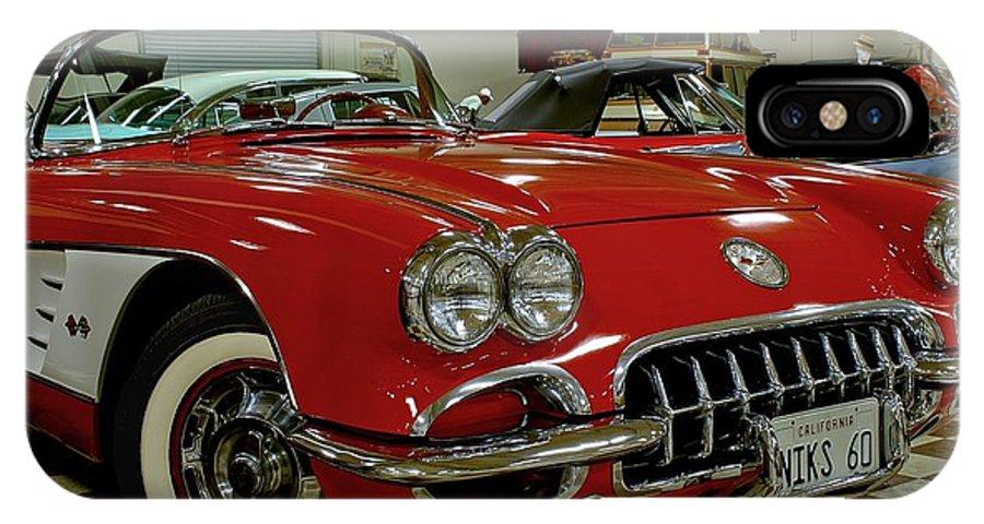 Antique IPhone X / XS Case featuring the photograph 1960 Corvette by Michael Gordon