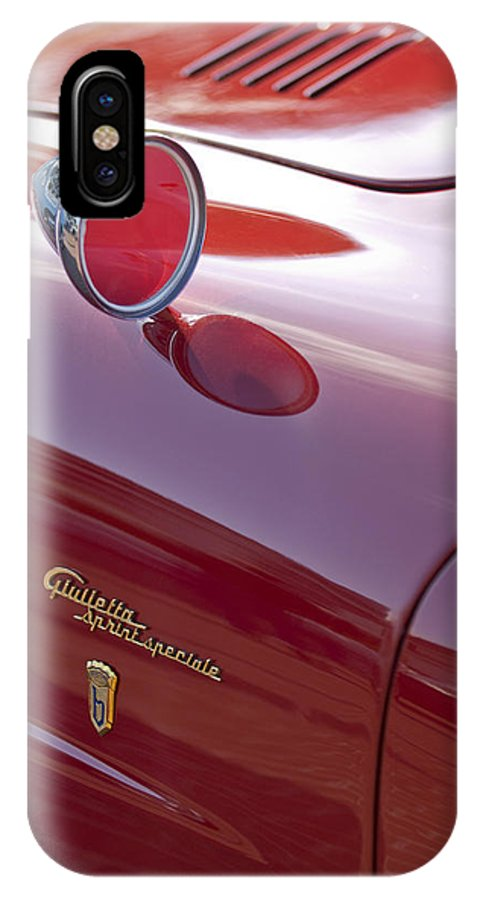 1961 Alfa Romeo Giulietta Sprint Speciale IPhone X Case featuring the photograph 1961 Alfa Romeo Giulietta Sprint Speciale Emblem by Jill Reger