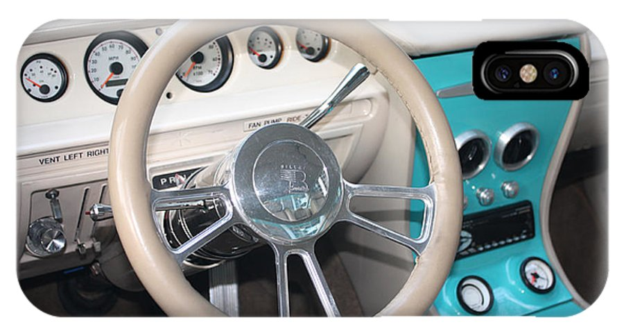 1961 Buick Two Door Sedan Dashboard IPhone X Case featuring the photograph 1961 Buick Two Door Sedan Dashboard by John Telfer