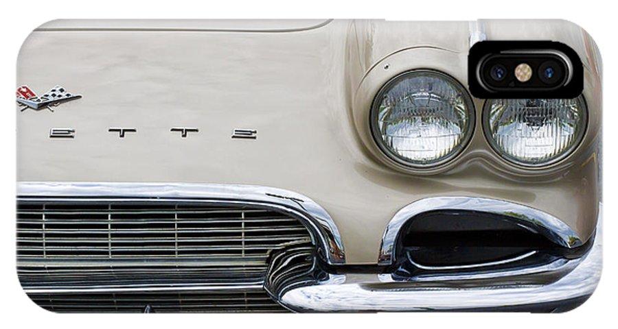 1961 Chevrolet Corvette IPhone X Case featuring the photograph 1961 Corvette by Dennis Hedberg