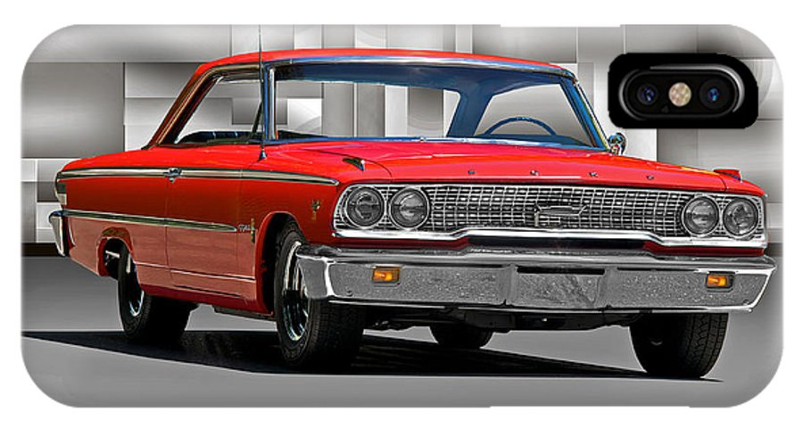 Alloy IPhone X Case featuring the photograph 1963 Ford Galaxy 427 Cu. In. by Dave Koontz