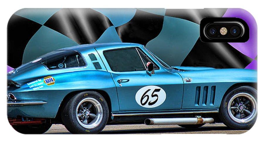 Blue Corvette IPhone X Case featuring the photograph 1965 Corvette by Sylvia Thornton