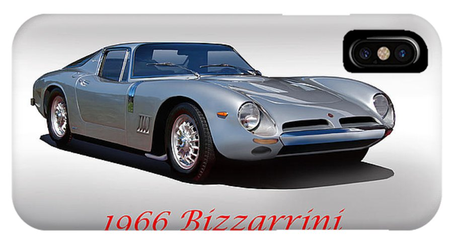 Auto IPhone X Case featuring the photograph 1966 Bizzarrini Gt 5300 Strada by Dave Koontz