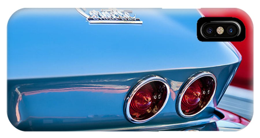 1967 Chevrolet Corvette IPhone X Case featuring the photograph 1967 Chevrolet Corvette Taillights by Jill Reger