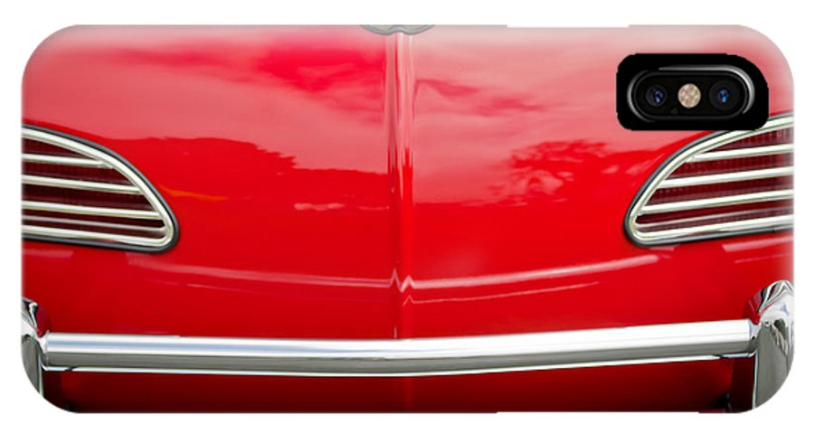 1968 Volkswagen Karmann Ghia Convertible IPhone X / XS Case featuring the photograph 1968 Volkswagen Karmann Ghia Convertible Hood Emblem by Jill Reger