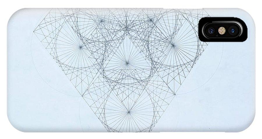 Jason Padgett IPhone X Case featuring the drawing Diamond Quanta by Jason Padgett
